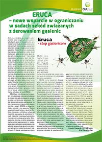ERUCA – Nowe wsparcie wograniczaniu wsadach szkód związanych zżerowaniem gąsienic
